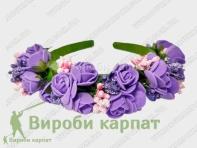 Обруч для волос с розами