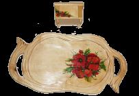Malowane tace i pudełka z klejnotami
