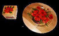 Шкатулка + тарелка 25