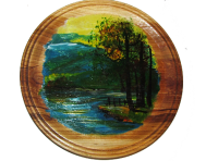Painted Plate 22 cm