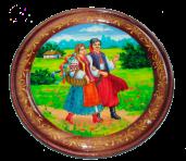 Расписная тарелка