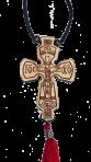 Подвеска крестик с выжиганием