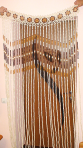 Декоративні штори з дерева