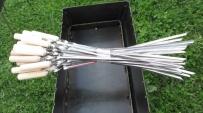 Шампур з дерев'яною ручкою 55 см/1,5 мм