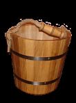 Drewniane wiaderko do kąpieli