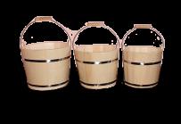 Набор деревянных вёдер