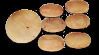 Zestaw naczyń z drewna (okrągły)