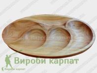 Овальная порционная тарелка