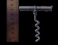 Korkociąg metalowy w kształcie litery T.