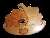 Puzzle słonie