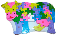 Puzzle krowy