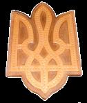 """Панно декоративне """"Тризуб"""" 35х22см"""