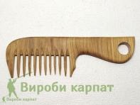 Расческа с широкими зубцами дубовая