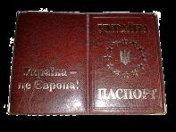 Паспорт ЄС з металевим гербом