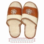 "Leather slippers ""Snowflake"""
