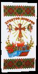 Serwetka wielkanocna Krzyż 55h27