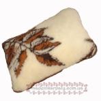 Подушка з овечої вовни 60х40 см