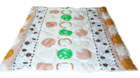 Blanket with a sheepskin 200 x 220 cm.
