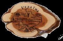 """Зріз ялівцю """"Карта України"""""""