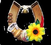 Podkowa - amulet 10x12 cm