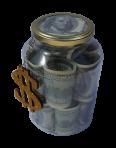 Банка с валютой 1 л