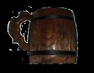 Mug with carved handle