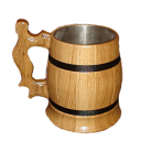 """Wooden Mug """"Zgarda"""" light"""