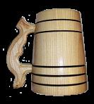 Natural Wood Wooden Mug 0,5L