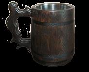 Glass of dark rum