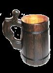 Drewniana szklanka do piwa przyciemniane 0,5