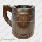Деревянный пивной бокал