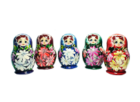 Nesting dolls, wooden toys