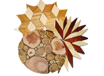 Drewniane podstawki pod gorące naczynia