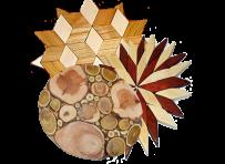 Wooden trivet under hot